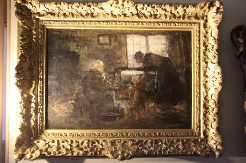 Paintings & Drawings  - reading - Northern school 19th century
