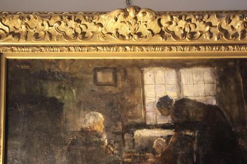 Antiquités - reading - Northern school 19th century