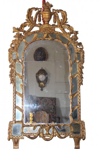 Large mirror with parecloses, England 18th century