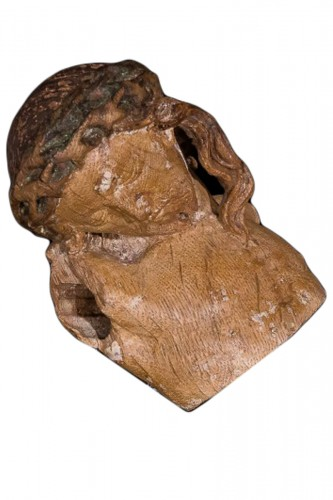 Fragment of a wooden Crucifix