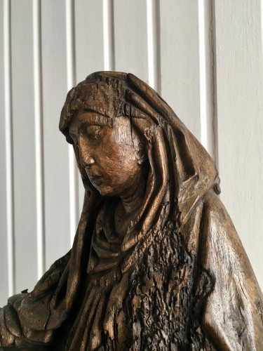 Sculpture  - St. Anne learning to read to the Virgin