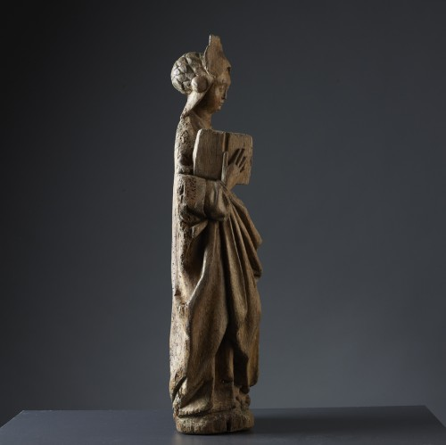 Sainte Barbe - sculpture en bois (chêne) vers 1520/1530 - Don Verboven - Exquisite Objects