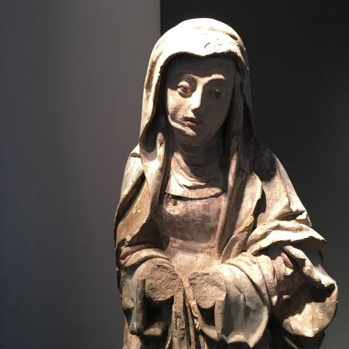 Sculpture  - Sainte Brigitte limestone sculpture - circa 1530 - probably from Germany