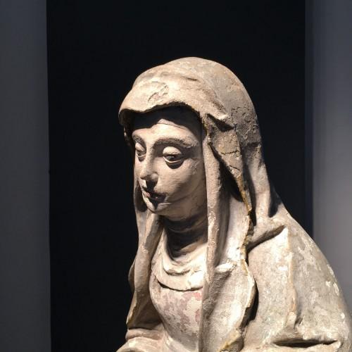 <= 16th century - Sainte Brigitte limestone sculpture - circa 1530 - probably from Germany
