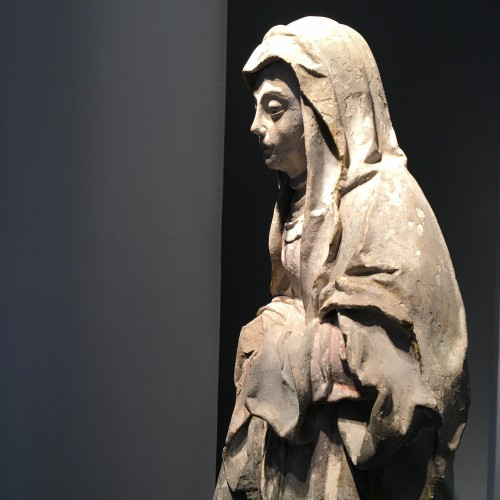 Middle age - Sainte Brigitte limestone sculpture - circa 1530 - probably from Germany