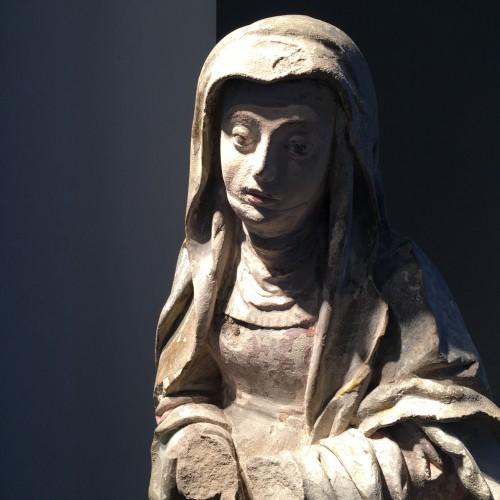 Antiquités - Sainte Brigitte limestone sculpture - circa 1530 - probably from Germany