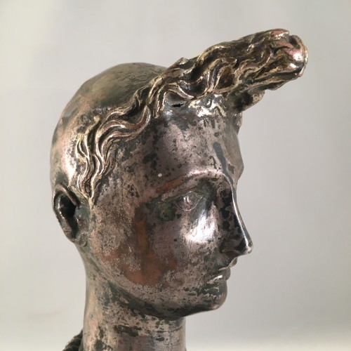"A silver-plated head of ""Riquet with the Tuft"" - ca. 1750 - France  -"