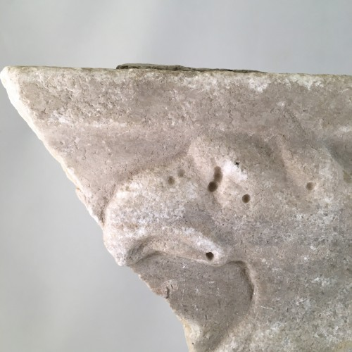 <= 16th century - An Etruscan (Italian) fragment in marble - 4th Century BC