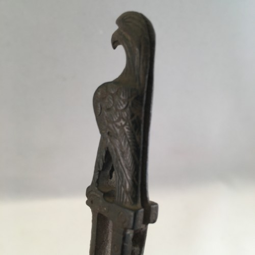 2nd-3rd Century AD bronze knife handle in the form of an eagle -