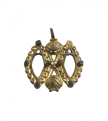 14th/15th Century gilt bronze pendant, probably France of Flanders