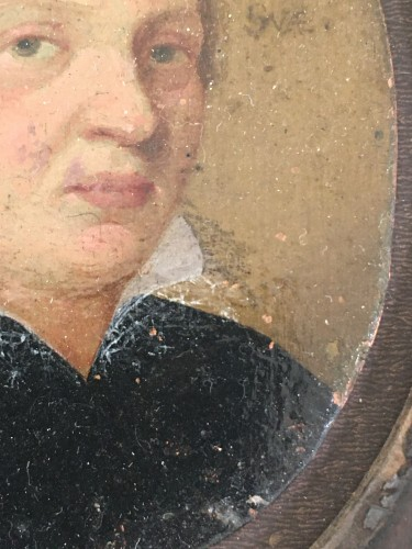 A small portrait, oil on copper, of a young man. Dated 1610.  - Objects of Vertu Style Renaissance