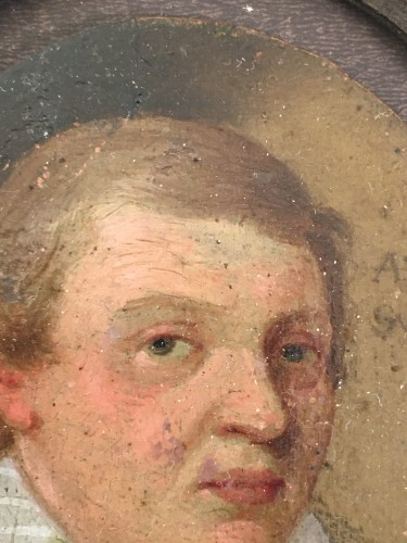 Objects of Vertu  - A small portrait, oil on copper, of a young man. Dated 1610.