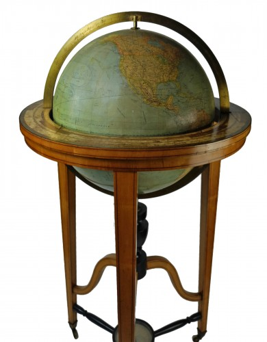 19th Century globe of Ernst Schotte (Berlin) in the German language