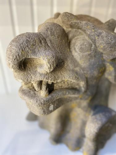 Curiosities  - Gothic Revival '19th Century' Monstrous Gargouille in Stone