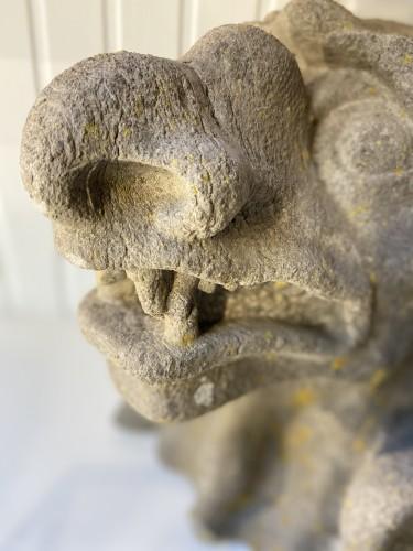 Antiquités - Gothic Revival '19th Century' Monstrous Gargouille in Stone