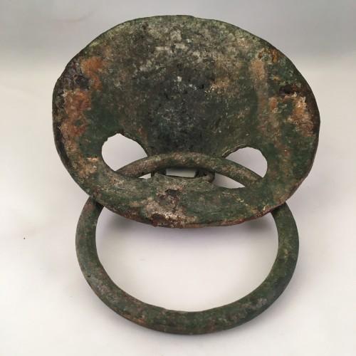 Roman Lion Head Attachment in Bronze, 2nd-3rd Century AD -
