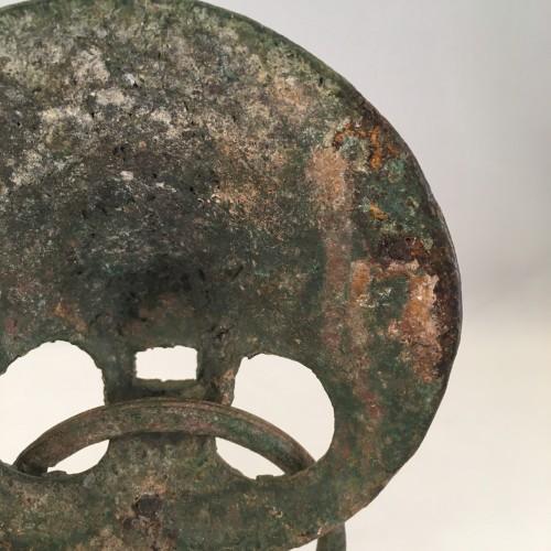 <= 16th century - Roman Lion Head Attachment in Bronze, 2nd-3rd Century AD