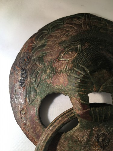 - Roman Lion Head Attachment in Bronze, 2nd-3rd Century AD