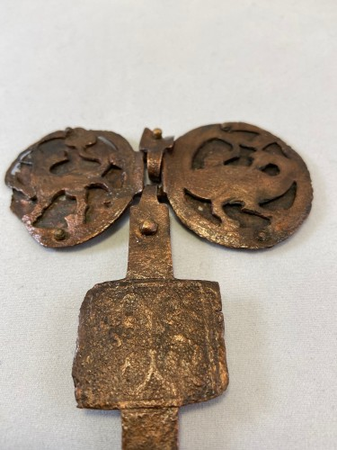 A fragment  of a 12th / 13th century copper necklace - Limoges (?) - France - Middle age