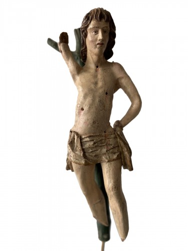 Saint Sebastian - wood - Hispano Flamenco - end of the XVI century