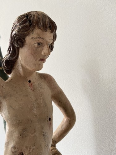 Sculpture  - Saint Sebastian - wood - Hispano Flamenco - end of the XVI century
