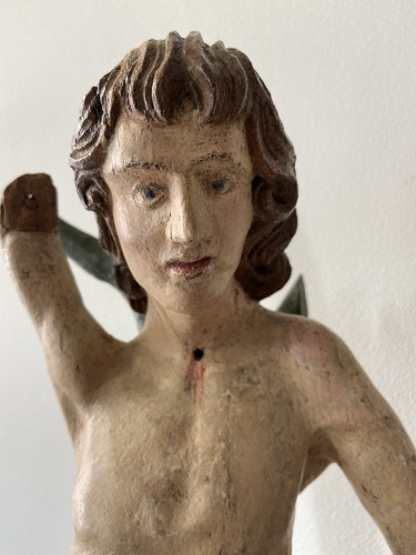 Saint Sebastian - wood - Hispano Flamenco - end of the XVI century -