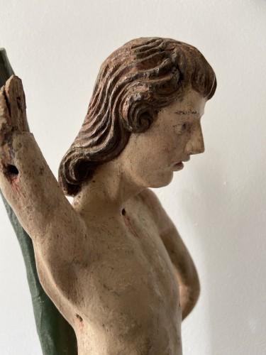 <= 16th century - Saint Sebastian - wood - Hispano Flamenco - end of the XVI century