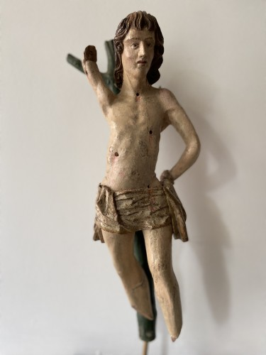 Saint Sebastian - wood - Hispano Flamenco - end of the XVI century - Middle age