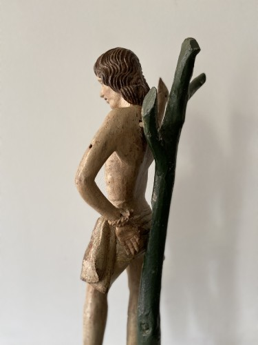 Antiquités - Saint Sebastian - wood - Hispano Flamenco - end of the XVI century