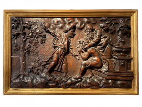 A panel (oak) of Susanna and the Elders - Antwerp (?) - XVII Century