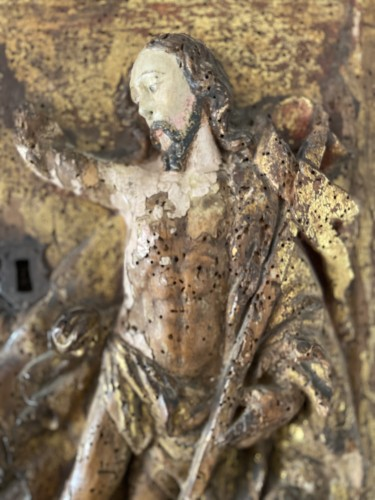 <= 16th century - Door of a tabernacle cabinet - Spain 16th century -  The resurrection of Jesus