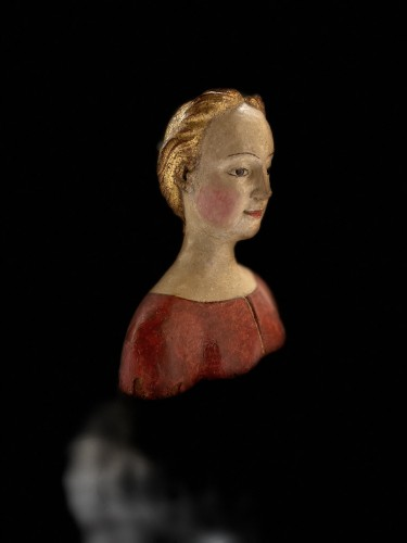 Bust of a young noble lady Italy (Tuscany?) - XVIth century - Sculpture Style Middle age
