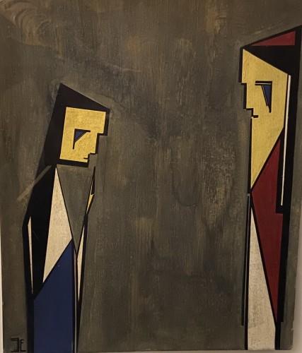 Paintings & Drawings  - 4 designs - J.J.N.Exter - dated 1940 - Exhibited 'Rijksmuseum Amsterdam'