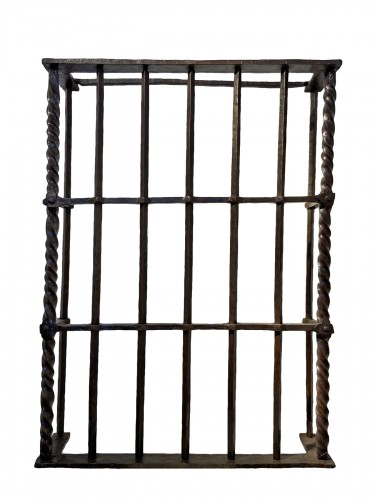 A window frame in wrought iron, Italy, 16th century