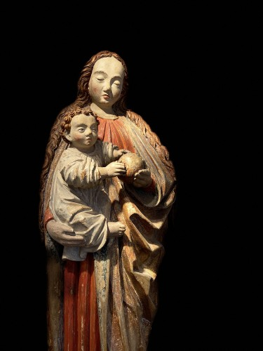 Virgin with child -  ca. 1480 - Lower Rhine Westphalian - Sculpture Style Middle age