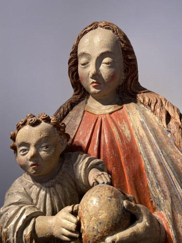 Virgin with child -  ca. 1480 - Lower Rhine Westphalian -