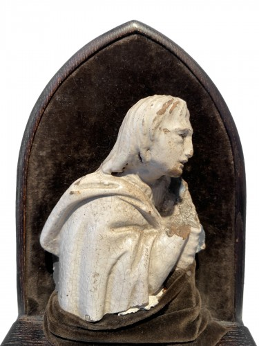 A fragment of a rondella - ceramic - workshop Della Robbia (?) - ca. 1480