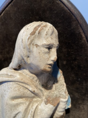A fragment of a rondella - ceramic - workshop Della Robbia (?) - ca. 1480 - Porcelain & Faience Style Renaissance