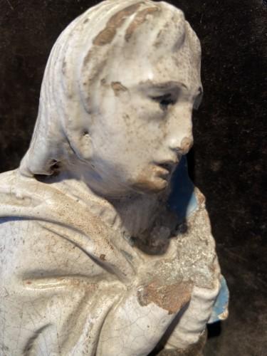 A fragment of a rondella - ceramic - workshop Della Robbia (?) - ca. 1480 -