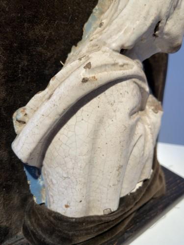 Renaissance - A fragment of a rondella - ceramic - workshop Della Robbia (?) - ca. 1480