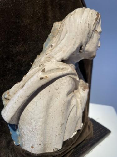 Antiquités - A fragment of a rondella - ceramic - workshop Della Robbia (?) - ca. 1480