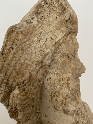 A sandstone bust of Saint Jacques, dated 1654, France - Sculpture Style