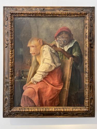 'Onderzoeking' (medical examination) - 1933 - Jos Schippers (1868-1950) - Paintings & Drawings Style