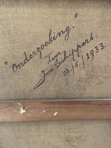 Paintings & Drawings  - 'Onderzoeking' (medical examination) - 1933 - Jos Schippers (1868-1950)