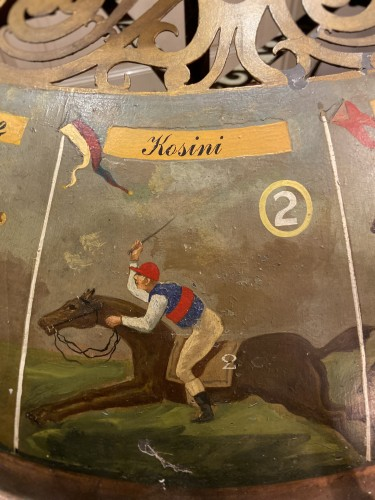 19th century - 19th century horse game with board and merry-go-round (France - Deauville?)