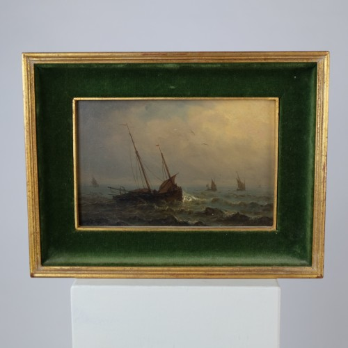 boats in a storm - Charles Ludin (1867-1949) - Paintings & Drawings Style