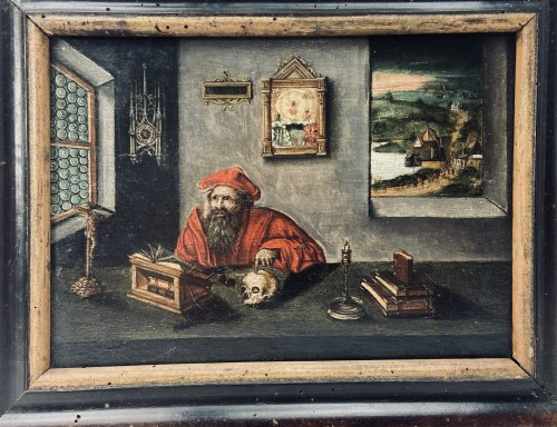 Saint Jerome at work in his study – end of the 17th Century