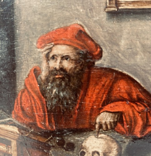 Paintings & Drawings  - Saint Jerome at work in his study – end of the 17th Century