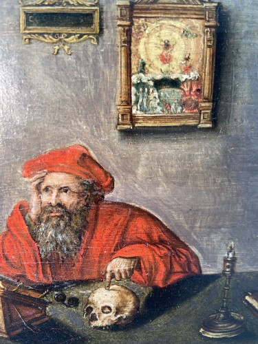 17th century - Saint Jerome at work in his study – end of the 17th Century
