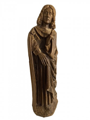 A sculpture (late Gothic) in oak of the apostle John, XVI Flanders